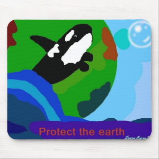 Earth Orca Mouse Pads
