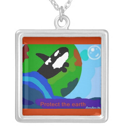 Earth Orca Necklace