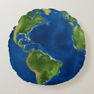 Earth Our Planet Round Pillow