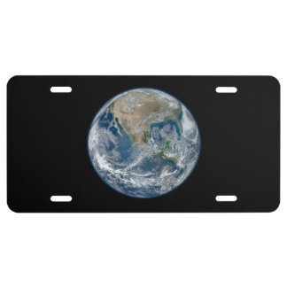 Earth our world license plate