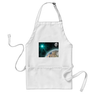 Earth Outer Space Adult Apron