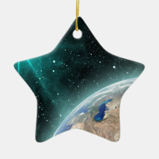 Earth Outer Space Ceramic Ornament