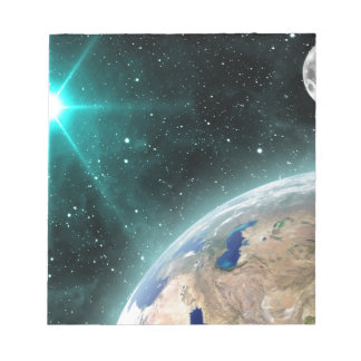 Earth Outer Space Notepad