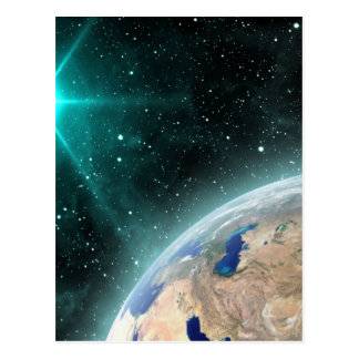 Earth Outer Space Postcard