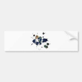 Earth Paint Bumper Sticker