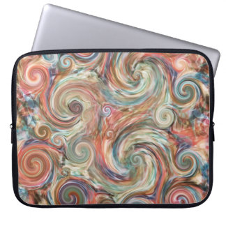 Earth Pastel Color Swirls Laptop Sleeve
