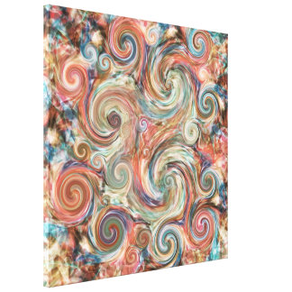 Earth Pastel Swirls Canvas Print