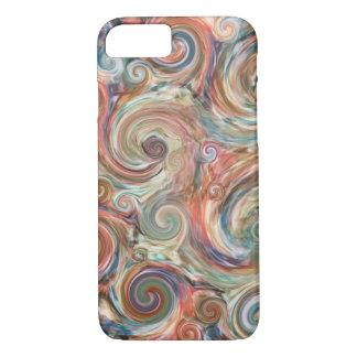 Earth Pastel Swirls iPhone Case