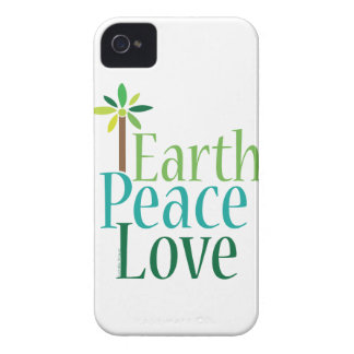 Earth Peace Love iPhone 4 Case-Mate Cases