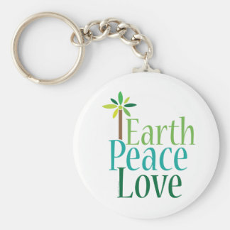 Earth Peace Love Earth Day Gifts Keychains
