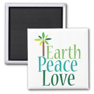 Earth Peace Love Earth Day Gifts Magnets