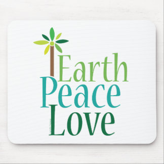 Earth Peace Love Earth Day Gifts Mouse Pad