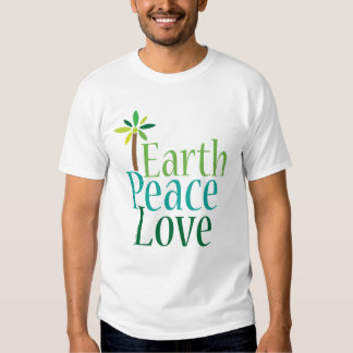 Earth Peace Love Earth Day T-shirt