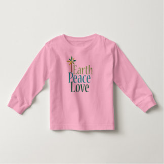 Earth Peace Love Toddler T-shirt