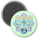 Earth Peace Menorah Magnets