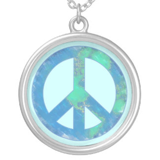 Earth Peace Sign Necklace
