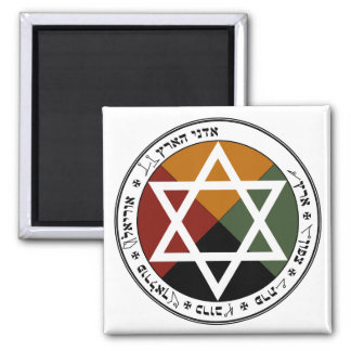 Earth Pentacle 2 Inch Square Magnet