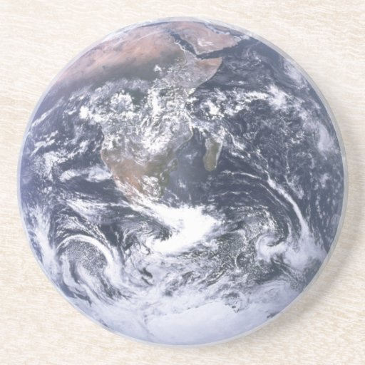 Earth Photo Drink Sandstone Coaster