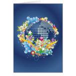 Earth ~ Planet Earth Flowers & Scrolls Greeting Card
