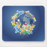 Earth ~ Planet Earth Flowers & Scrolls Mouse Pad