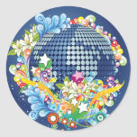 Earth ~ Planet Earth Flowers & Scrolls Classic Round Sticker