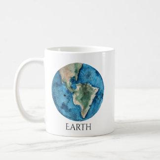 Earth Planet Watercolor Mug
