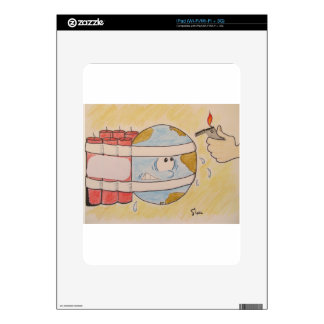 EARTH POLLUTION DECAL FOR THE iPad