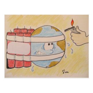 EARTH POLLUTION POSTCARD