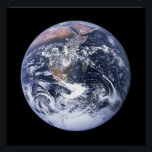 """Earth Poster<br><div class=""""desc"""">NASA&#39;s Full Earth images of our big,  blue marble. If you&#39;d like to customize this poster,  you can add text or change the black background color.</div>"""