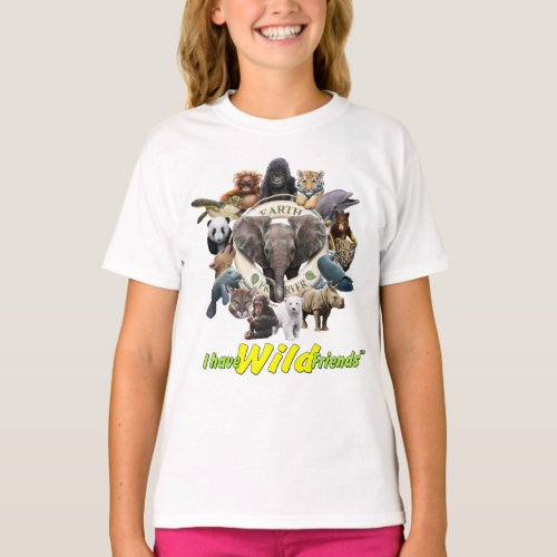 Earth Preserver TM  I Have Wild Friends TM Brand T_Shirt