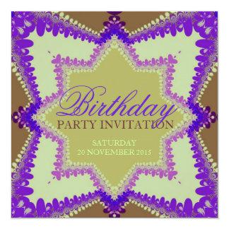 Earth Princess Party Birthday Invitations