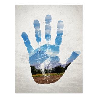 Earth Print Postcard