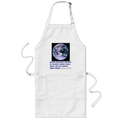 Earth provides apron