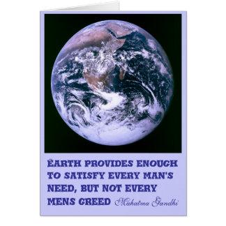 Earth provides notecard