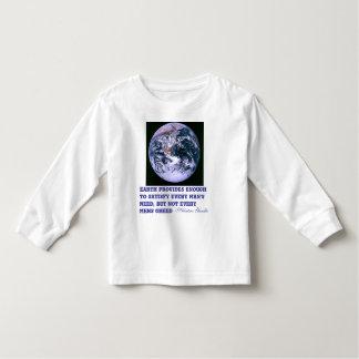 Earth provides toddler shirt