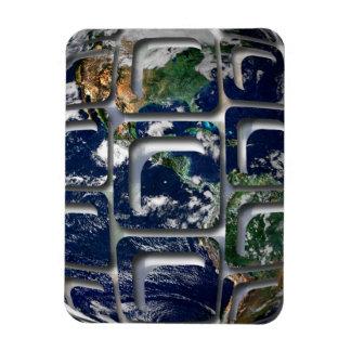 Earth Rectangular Photo Magnet