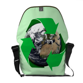 Earth Recycle Courier Bag