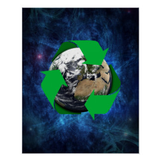 Earth Recycle Poster