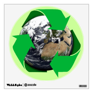 Earth Recycle Wall Decal