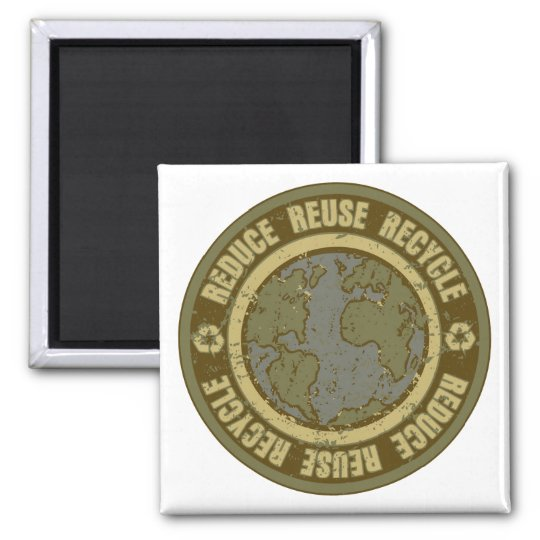 Earth Recycled Grunge Magnet