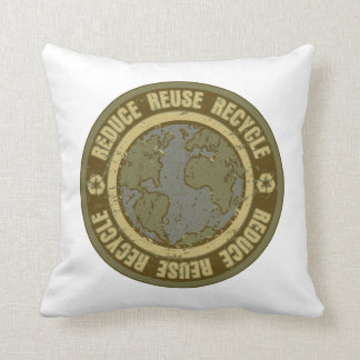 Earth Recycled Grunge Throw Pillow