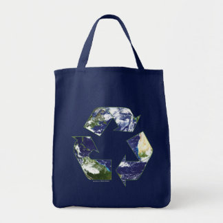 Earth - Recycling Grocery Tote Bag