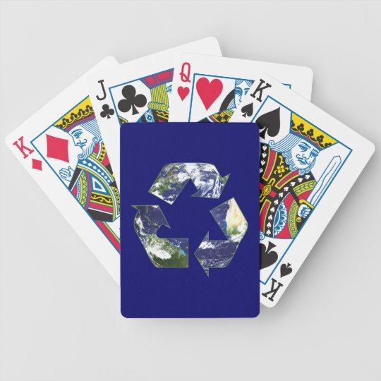 Earth - Recycling Bicycle Playing Cards