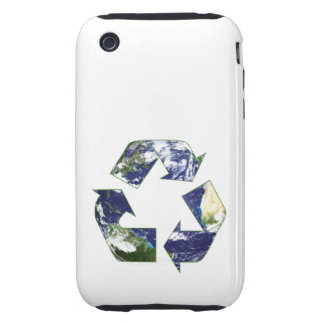 Earth - Recycling Tough iPhone 3 Cases