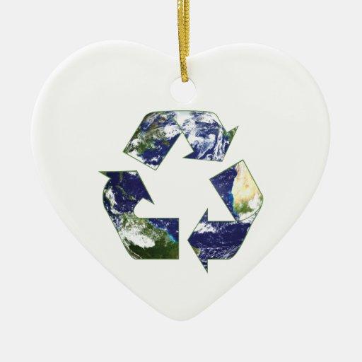 Earth - Recycling Ceramic Ornament