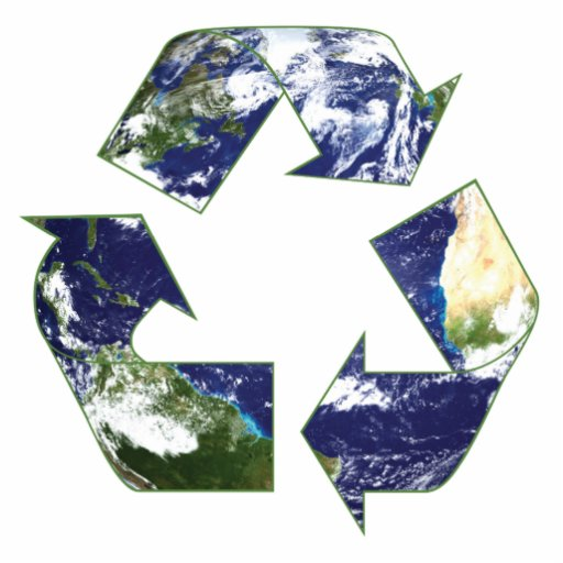 Earth - Recycling Cutout