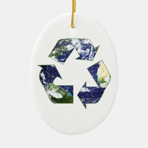 Earth - Recycling Ornament