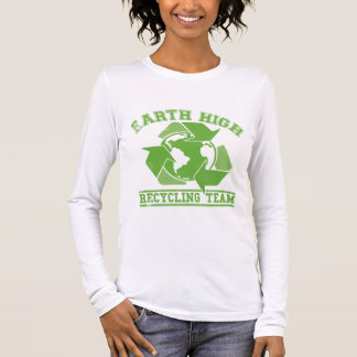 Earth Recycling Team Faded Long Sleeve T-Shirt