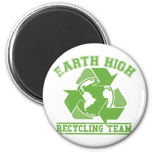 Earth Recycling Team Faded Refrigerator Magnets