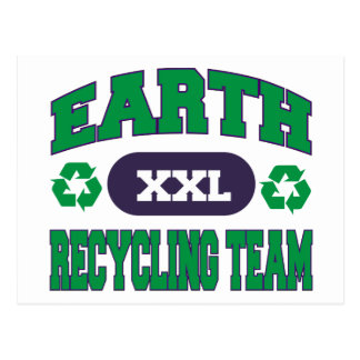 Earth Recycling Team Gift Post Cards